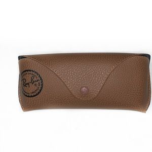 Tan Ray-ban Glasses case with Cleaning Cloth